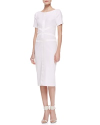 Jason Wu Tweed Satin Corset Dress Ivory