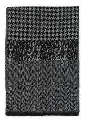 Topshop Dogtooth Print Scarf Monochrome