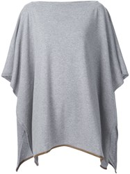 Agnona Knitted Cape Sweater Grey