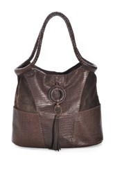 Carla Mancini Front Ring And Tassel Tall Leather Tote Brown