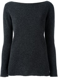 Fashion Clinic Round Neck Jumper Grey