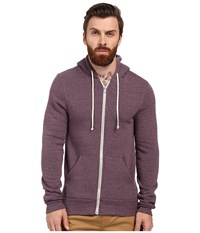 Alternative Apparel Rocky Zip Hoodie Eco True Spring Plum Men's Sweatshirt Brown