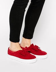 F Troupe Raspberry Bow Slip On Trainers