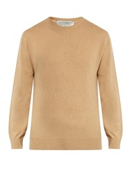 Gieves And Hawkes Crew Neck Cashmere Sweater Cream