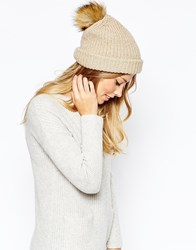Whistles Alpaca Mix Bobble Beanie Oatmeal