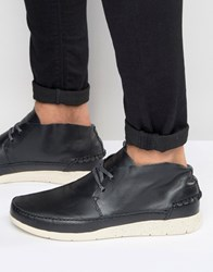 Boxfresh Statley Leather Trainers Black