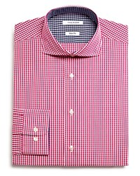 Isaac Mizrahi New York Gingham Slim Fit Dress Shirt Compare At 59.50 Cherry