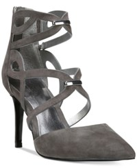 Carlos By Carlos Santana Thea Pointed Toe Pumps Women's Shoes Graphite