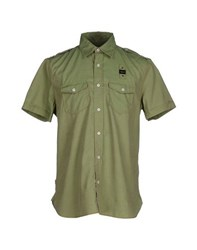 Blauer Shirts Shirts Men Military Green