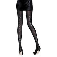 Aristoc Diamante Backseam Tights Black