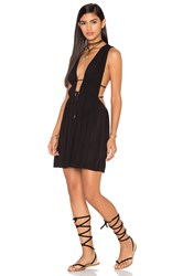Indah Stellar Deep V Dress Black