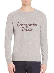 Commune De Paris Long Sleeve Ribbed Chaillot Sweater Grey