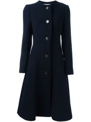 Lanvin Long Sleeved Overcoat Blue