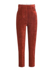 Golden Goose Cropped Corduroy Pants Red