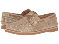 Sperry Gold Cup A O Seasonal Gold Metallic Women's Lace Up Casual Shoes