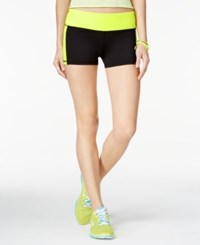 Material Girl Active Juniors' It's Go Time Graphic Shorts Only At Macy's Limearita