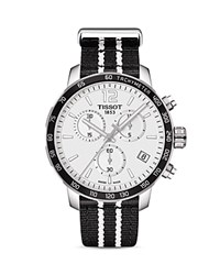 Tissot San Antonio Spurs Quickster Stainless Steel Chronograph 42Mm White Black