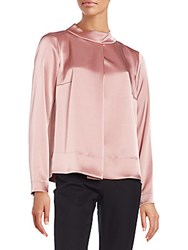 Escada Jeweled Button Blouse Pink