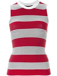 Alexander Wang Striped Tank Top Red