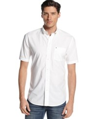 Tommy Hilfiger Big And Tall Maxwell Short Sleeve Button Down Shirt Classic White