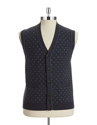 Brooks Brothers Red Fleece Patterned Sweater Vest