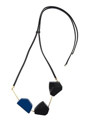 Marni Geometric Pendant Necklace Black