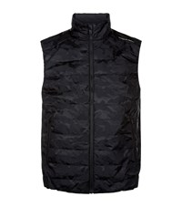 Porsche Design Lightweight Padded Camo Gilet Male Black