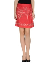 Ailanto Knee Length Skirts Red