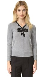 Marc Jacobs Embroidered Classic Sweater Grey Melange