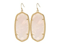 Kendra Scott Danielle Earrings Gold Rose Quartz Earring