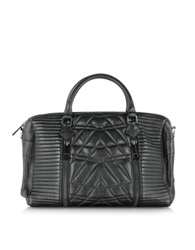 Zadig And Voltaire Sunny Black Quilted Leather Satchel W Shoulder Strap