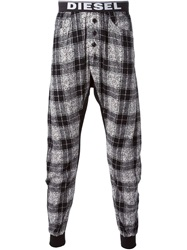 Diesel Checked Pyjama Pants Black