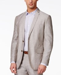 Inc International Concepts Neal Linen Slim Fit Blazer Only At Macy's Taupe