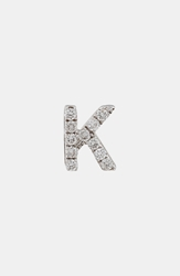 Bony Levy Single Initial Earring Nordstrom Exclusive White Gold K