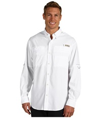 Columbia Tamiami Ii L S White Men's Long Sleeve Button Up