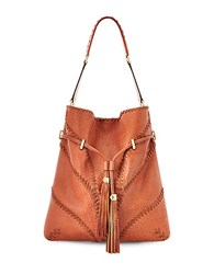 Brian Atwood Lucas Leather Hobo Cognac