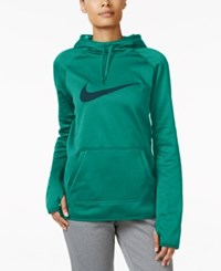 Nike All Time Therma Fleece Swoosh Training Hoodie Teal Charge Midnight Navy