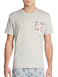 Psycho Bunny Logo Pocket Cotton Jersey Tee High Rise
