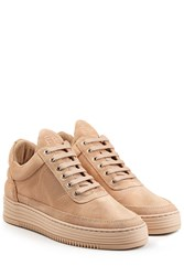 Filling Pieces Monotone Stripe Suede Sneakers Beige