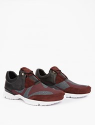 Wooyoungmi Panelled Leather Running Sneakers