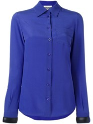 Moschino Buckle Cuff Blouse Blue