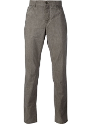John Varvatos Corduroy Skull Detail Trousers Brown
