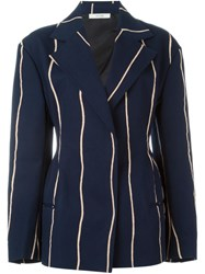 Celine Striped Blazer Blue