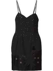 Moschino Vintage 'Cat And The Stars' Dress Black