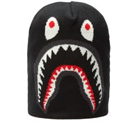 A Bathing Ape Shark Knit Cap Black
