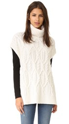 Theory Boseley C Sleeveless Sweater Ivory