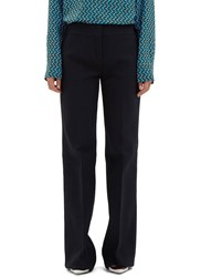 Marni Flared Crepe Pants Navy