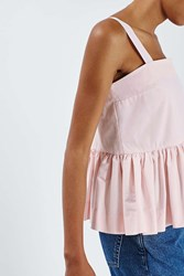 Boutique Ruffled Peplum Cami By Pink