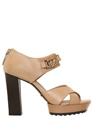 Tod's 100Mm Leather Chained Sandals