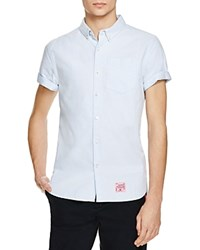 Superdry Ultimate Short Sleeve Oxford Regular Fit Button Down Shirt Sky